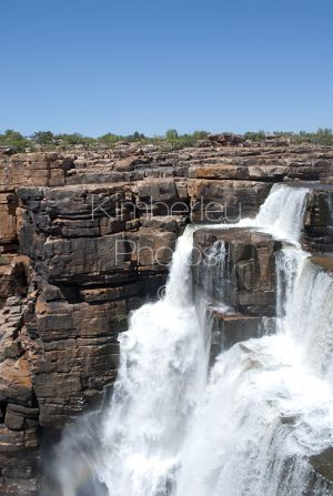 One of the twin waterfalls at King George Falls