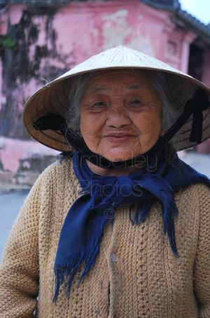 Beautiful Old Vietnamese Lady