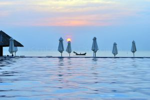 Phu Quoc Horizon Pool at Sunset