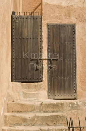 2 old doors in the Kasbah, Rabat