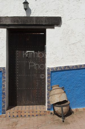 Old wooden doorway into the Kasbah, Rabat