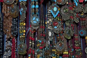 necklaces for sale in the markets